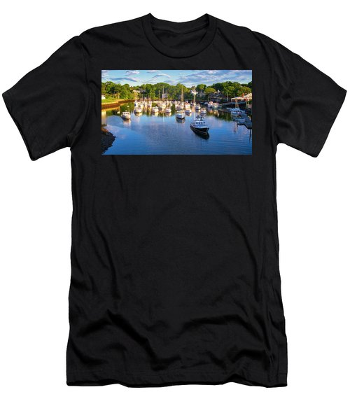 Lobster Boats - Perkins Cove - Maine Men's T-Shirt (Athletic Fit)