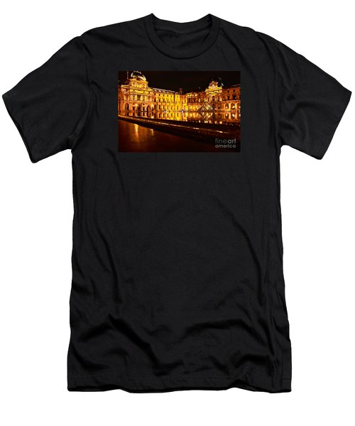 Louvre Pyramid Men's T-Shirt (Slim Fit) by Danica Radman