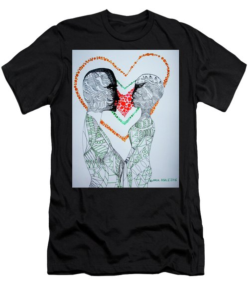 Love Is A Heart Men's T-Shirt (Athletic Fit)
