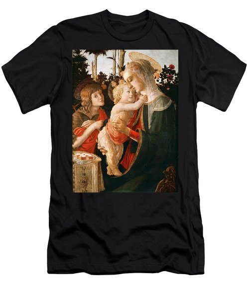 Madonna And Child With St. John The Baptist Men's T-Shirt (Athletic Fit)