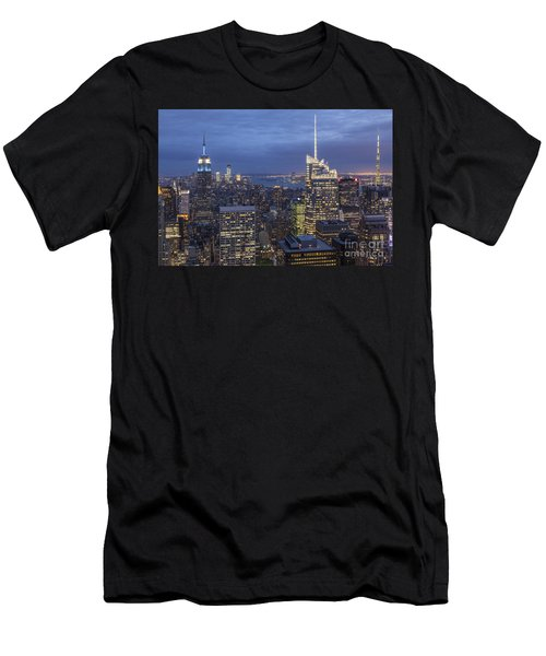Men's T-Shirt (Athletic Fit) featuring the photograph Manhattan Skyline New York by Juergen Held