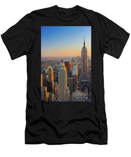 Manhattan View At Sunset Men's T-Shirt (Athletic Fit)