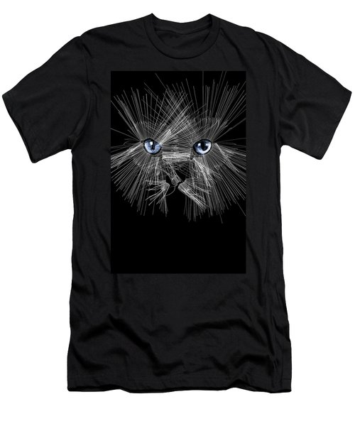 Mister Whiskers Men's T-Shirt (Slim Fit) by ISAW Gallery