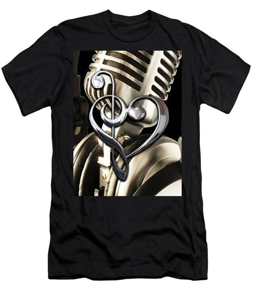 Musical Heart Collection Men's T-Shirt (Slim Fit) by Marvin Blaine