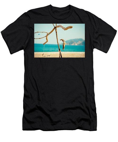 Nature Sculpture At Coast Seascape Artmif.lv Men's T-Shirt (Athletic Fit)
