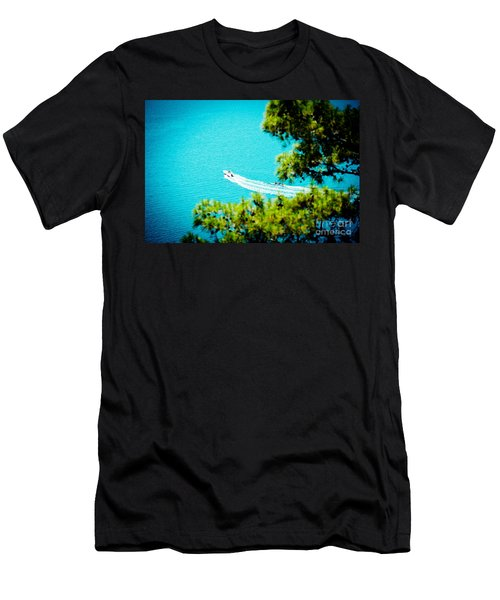 Pine Forest Over Sea Seascape Artmif.lv Men's T-Shirt (Athletic Fit)