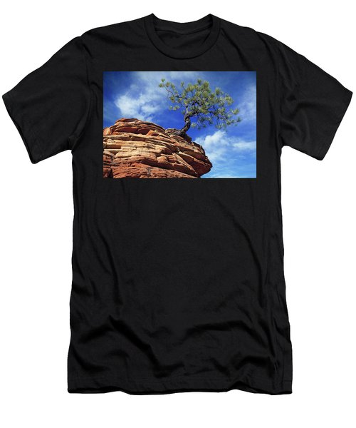 Pine Tree In Sandstone Men's T-Shirt (Athletic Fit)