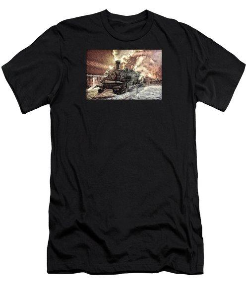 Polar Express. Durango, Colorado #1 Men's T-Shirt (Slim Fit) by George Robinson