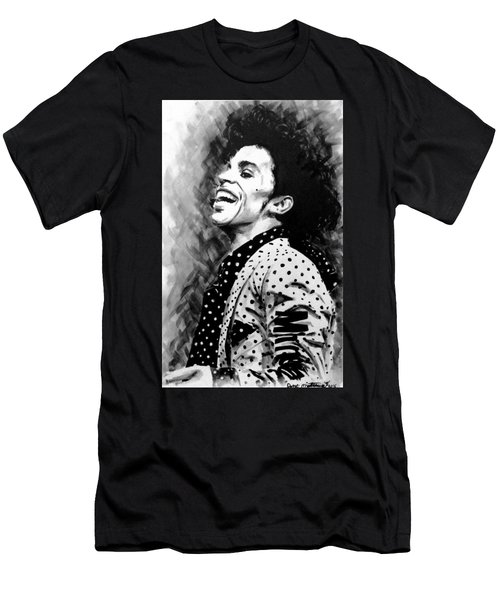 Men's T-Shirt (Slim Fit) featuring the painting Prince by Darryl Matthews