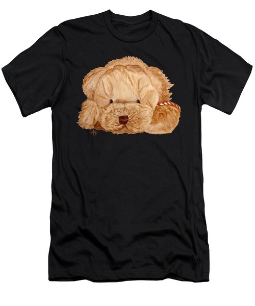 Men's T-Shirt (Athletic Fit) featuring the painting Puppy Dog by Angeles M Pomata