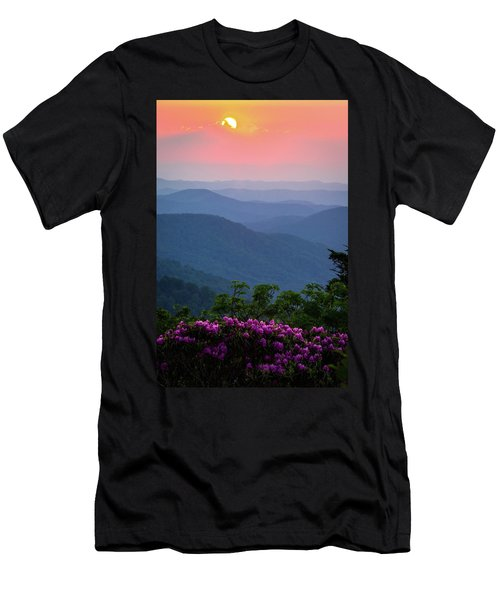 Roan Mountain Sunset Men's T-Shirt (Slim Fit) by Serge Skiba