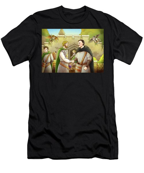 Robin Hood And The Captain Of The Guard Men's T-Shirt (Athletic Fit)