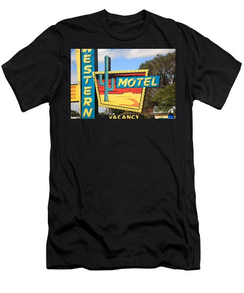 Route 66 - Western Motel Men's T-Shirt (Athletic Fit)
