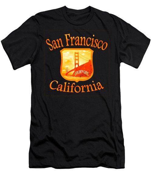 San Francisco California Golden Gate Design Men's T-Shirt (Athletic Fit)