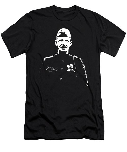 Men's T-Shirt (Slim Fit) featuring the mixed media Sergeant Alvin York by War Is Hell Store