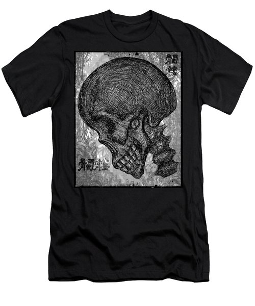 Gothic Skull Men's T-Shirt (Slim Fit) by Akiko Okabe