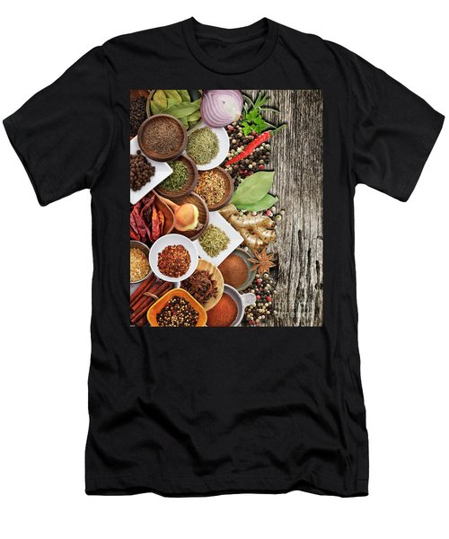 Spices And Herbs Men's T-Shirt (Athletic Fit)