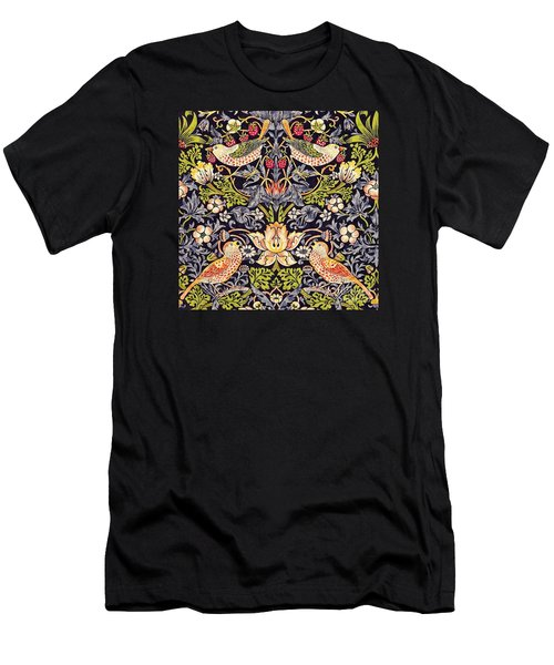 Men's T-Shirt (Athletic Fit) featuring the painting Strawberry Thief by William Morris