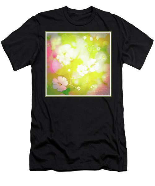 Summer Flowers, Baby's Breath, Digital Art Men's T-Shirt (Athletic Fit)