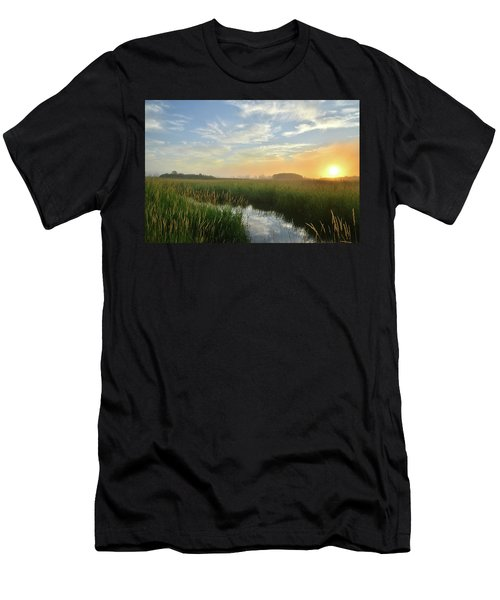 Sunrise At Glacial Park Men's T-Shirt (Athletic Fit)