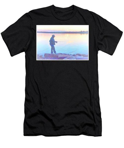 Sunrise Fisherman Men's T-Shirt (Athletic Fit)