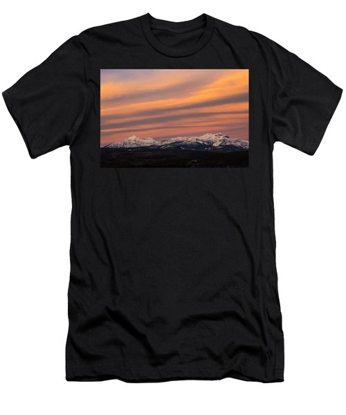 Sunset In Glacier National Park Men's T-Shirt (Athletic Fit)