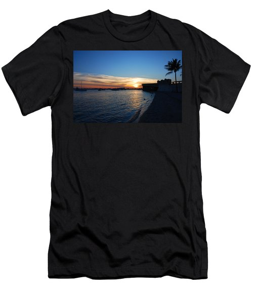 Men's T-Shirt (Slim Fit) featuring the photograph 2- Sunset In Paradise by Joseph Keane