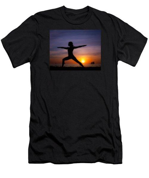 Sunset Yoga Men's T-Shirt (Slim Fit) by Scott Meyer