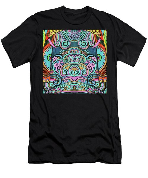 Swirly Design Men's T-Shirt (Athletic Fit)