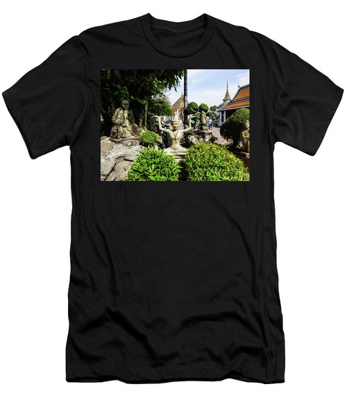 Thai Yoga Statue At Famous Wat Pho Temple Men's T-Shirt (Athletic Fit)