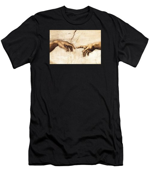 The Creation Of Adam Men's T-Shirt (Slim Fit) by Michelangelo