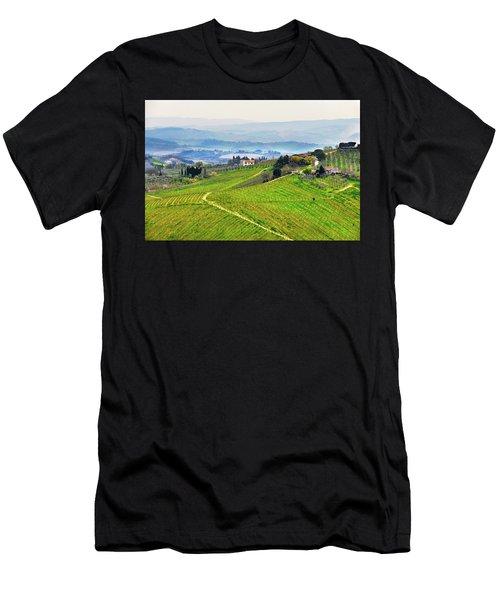 Tuscany Landscape Men's T-Shirt (Athletic Fit)