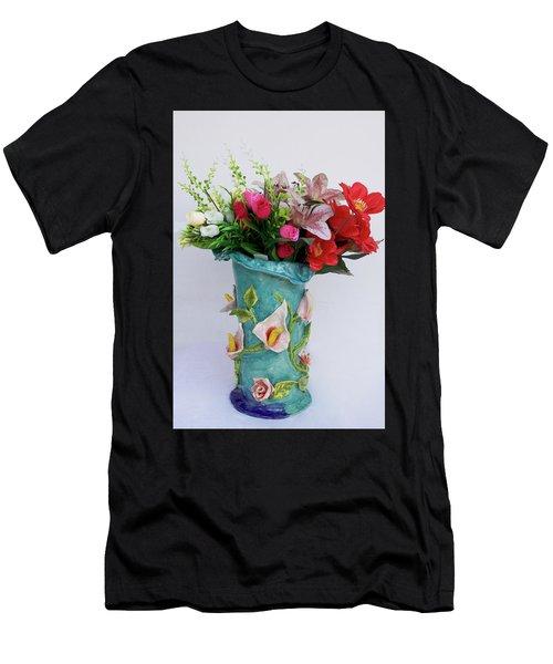 Vase, Rose Calla Men's T-Shirt (Athletic Fit)