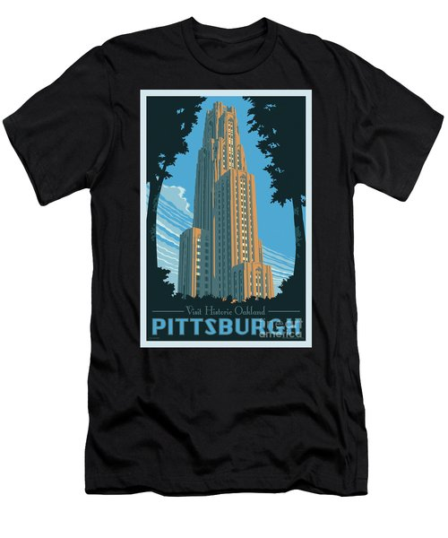 Pittsburgh Poster - Vintage Style Men's T-Shirt (Athletic Fit)