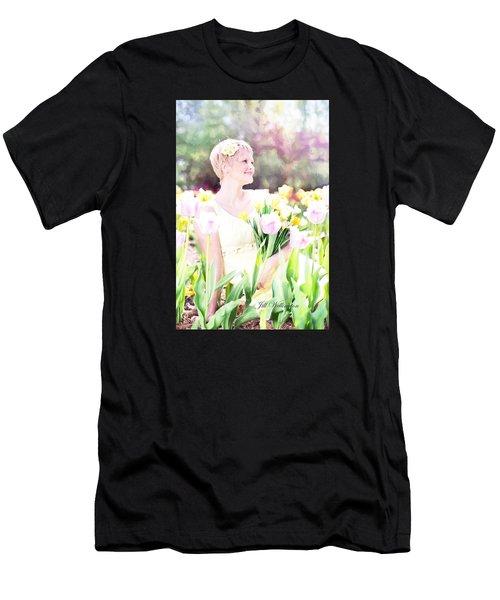 Vintage Val Spring Tulips Men's T-Shirt (Athletic Fit)
