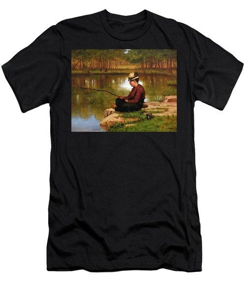 Waiting For A Bite, Central Park Men's T-Shirt (Athletic Fit)