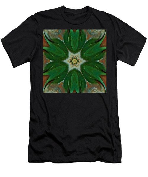 Watercolor Flower Art Men's T-Shirt (Athletic Fit)