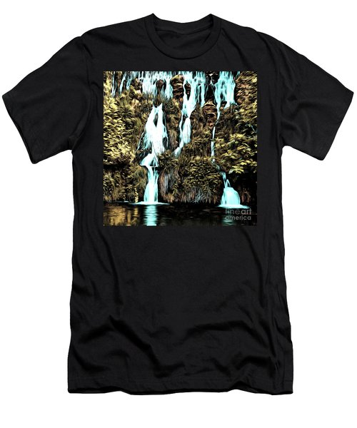 Waterfall Painting Men's T-Shirt (Athletic Fit)