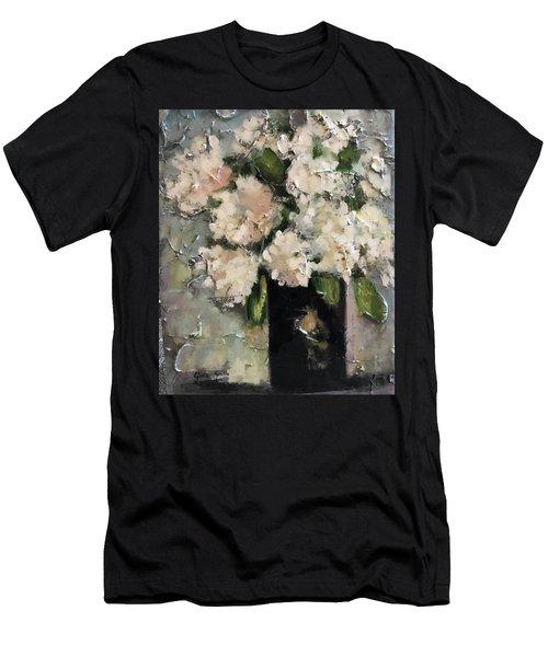 White Hydrangeas Men's T-Shirt (Athletic Fit)