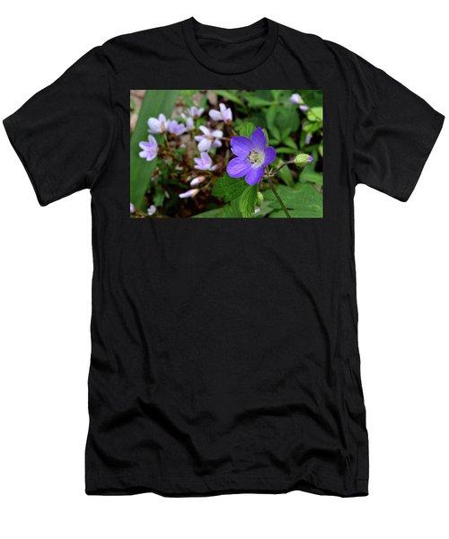 Wild Geranium Men's T-Shirt (Slim Fit) by Tim Good