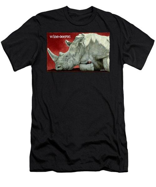Wine-oceros Men's T-Shirt (Athletic Fit)