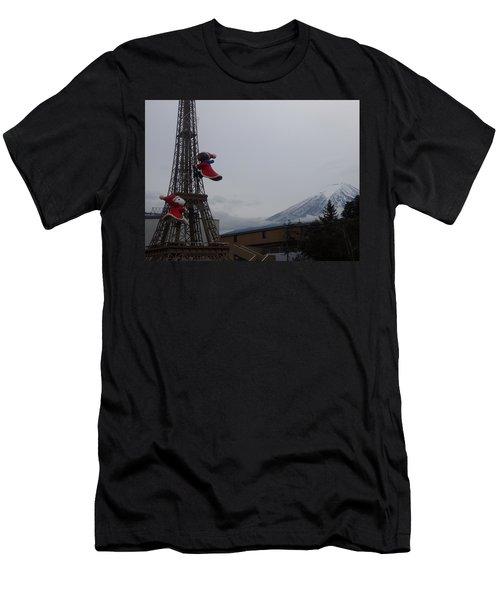 Winter Amusement Park Men's T-Shirt (Athletic Fit)