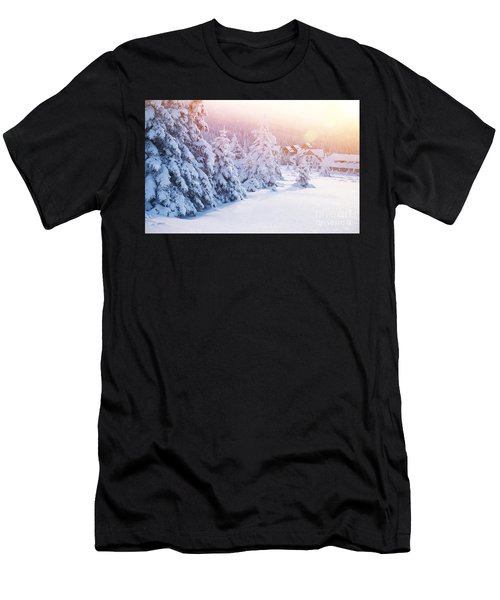 Winter Resort Men's T-Shirt (Athletic Fit)