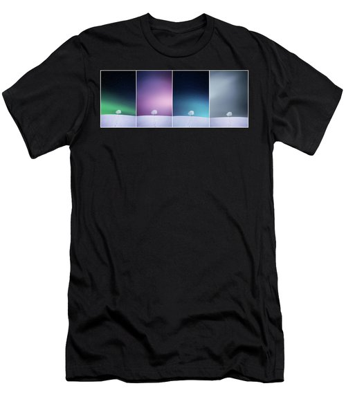 Men's T-Shirt (Slim Fit) featuring the photograph Winter Tree by Bess Hamiti