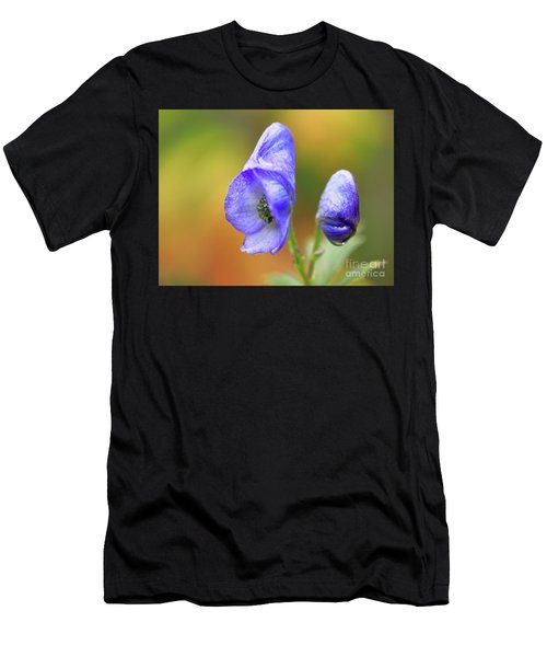 Men's T-Shirt (Athletic Fit) featuring the photograph Wolf's Bane Flower by Nick Biemans