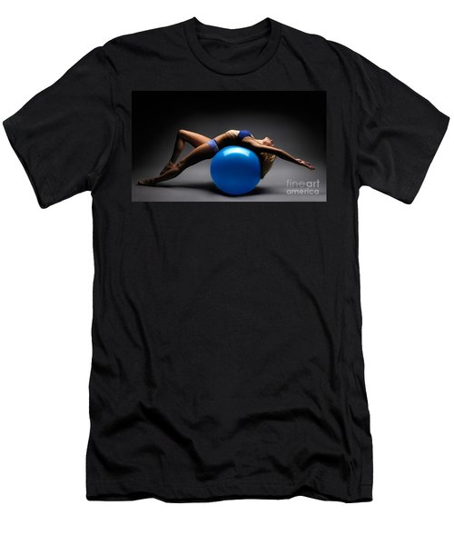Woman On A Ball Men's T-Shirt (Athletic Fit)