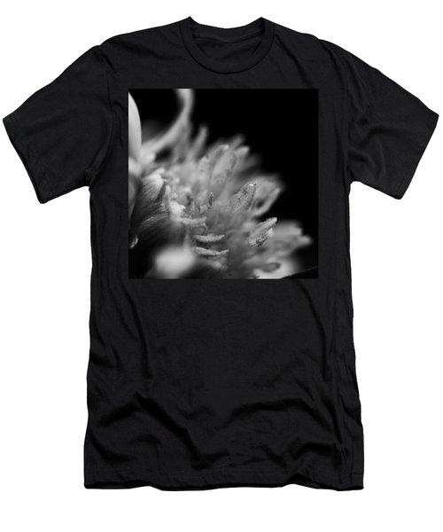 Black And White Flower  Men's T-Shirt (Slim Fit) by Kevin Blackburn