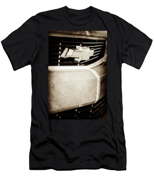 Men's T-Shirt (Slim Fit) featuring the photograph 2011 Chevrolet Camaro Grille Emblem -0321s by Jill Reger