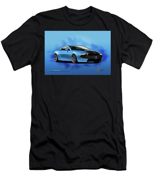 Men's T-Shirt (Athletic Fit) featuring the digital art 2014 Mustang  by Doug Schramm