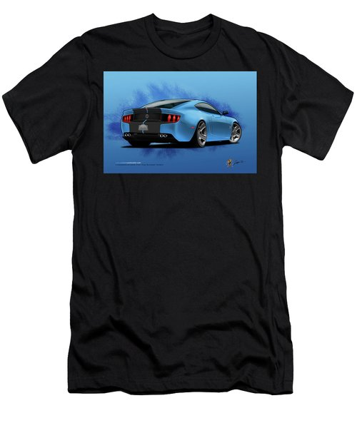 Men's T-Shirt (Athletic Fit) featuring the digital art 2014 Stang Rear by Doug Schramm